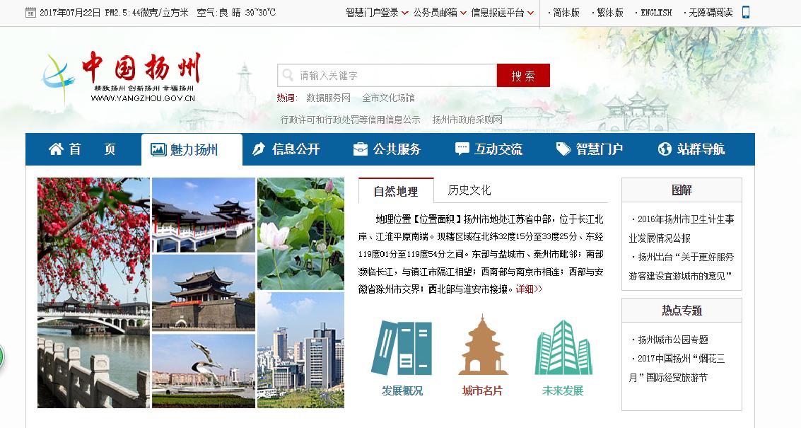 中国扬州门户网站